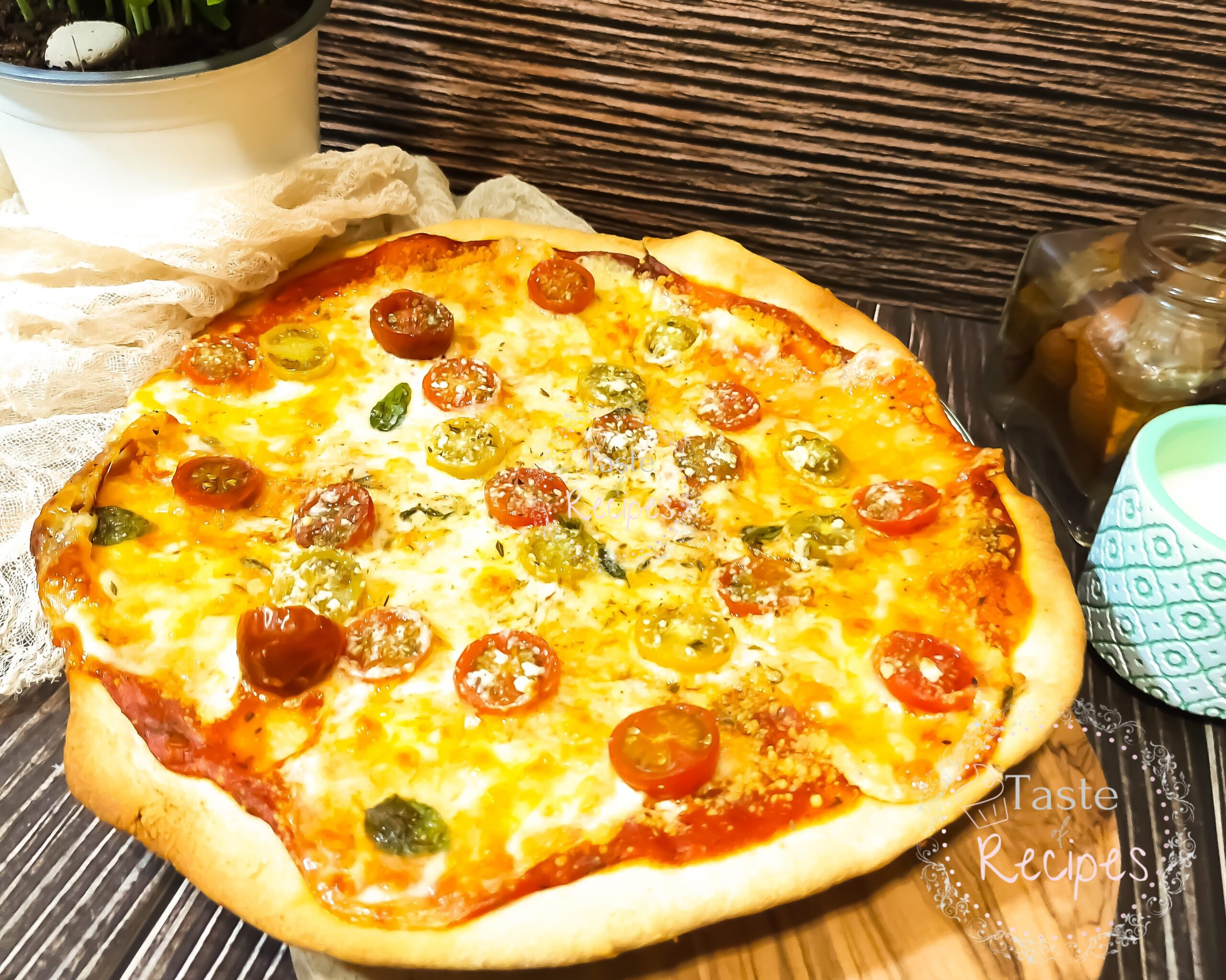 Thick and Fluffy Homemade Pizza Dough Recipe