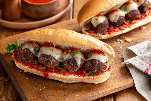 Meatball Sub, the super American meatball sub sandwich